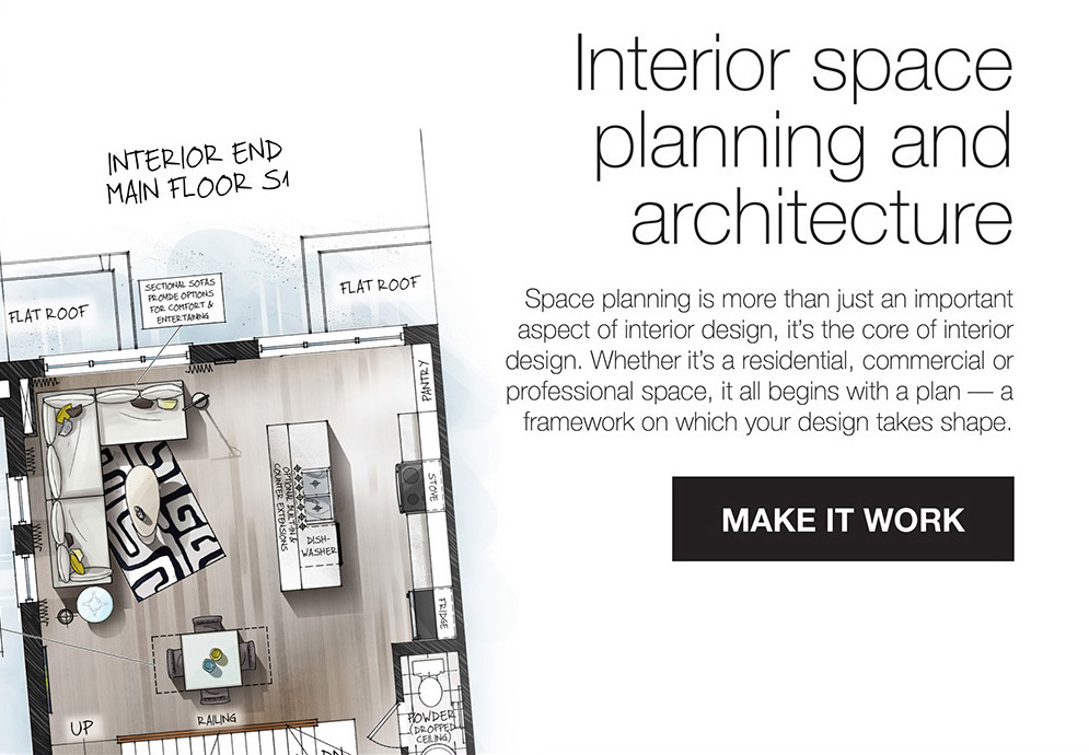 Interior space planning and architecture
